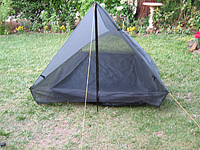 Webbing and shockcord stabilize and centers floor; protects netting from stress. & Tarptent Ultralight Shelter Floors